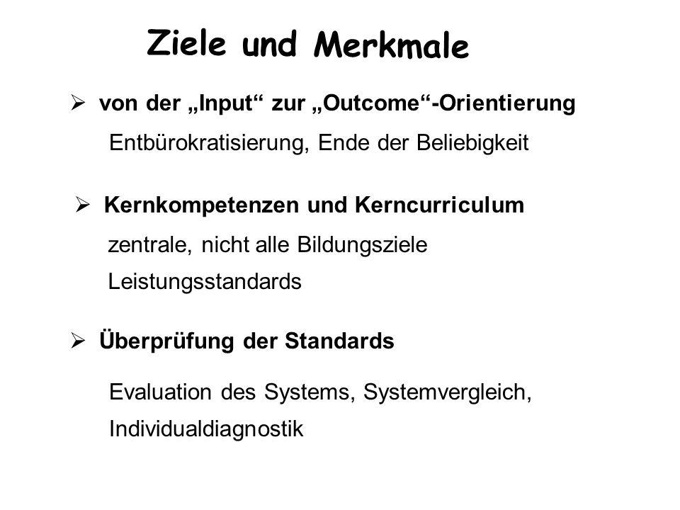 """Ziele und Merkmale von der """"Input zur """"Outcome -Orientierung"""