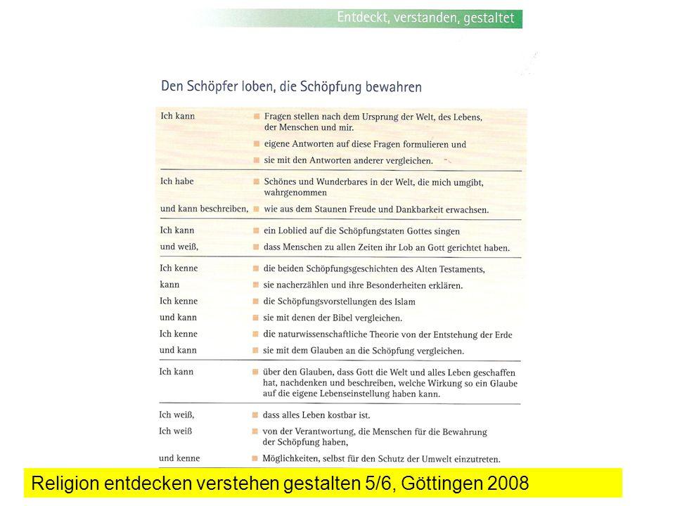 Religion entdecken verstehen gestalten 5/6, Göttingen 2008