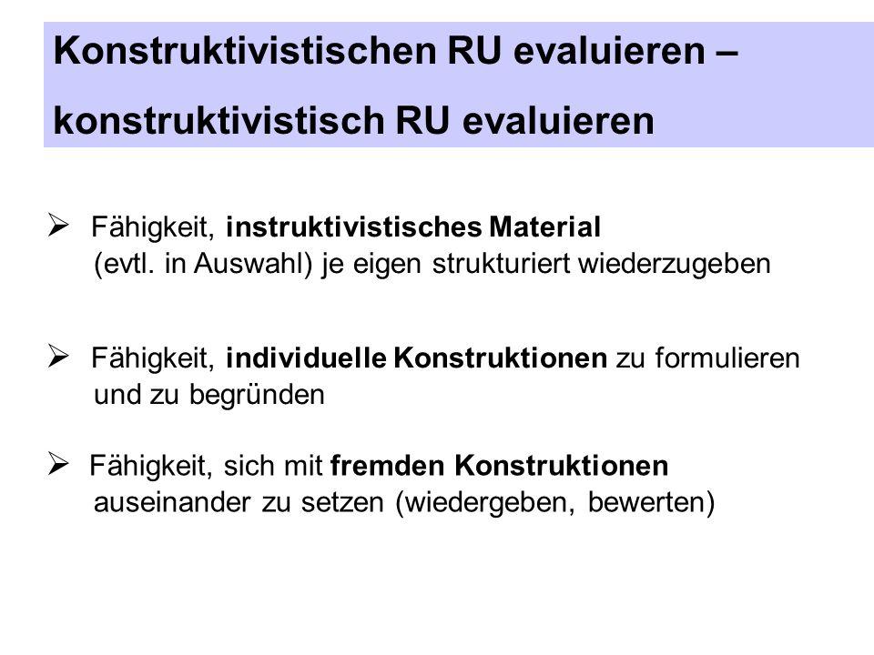 Konstruktivistischen RU evaluieren – konstruktivistisch RU evaluieren