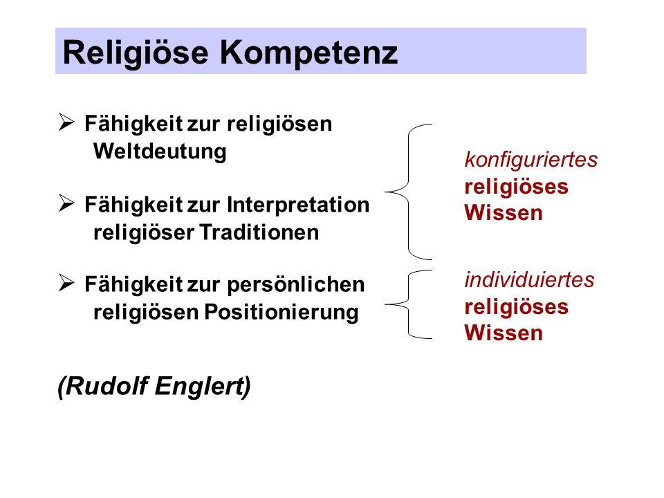 Religiöse Kompetenz Fähigkeit zur religiösen Weltdeutung