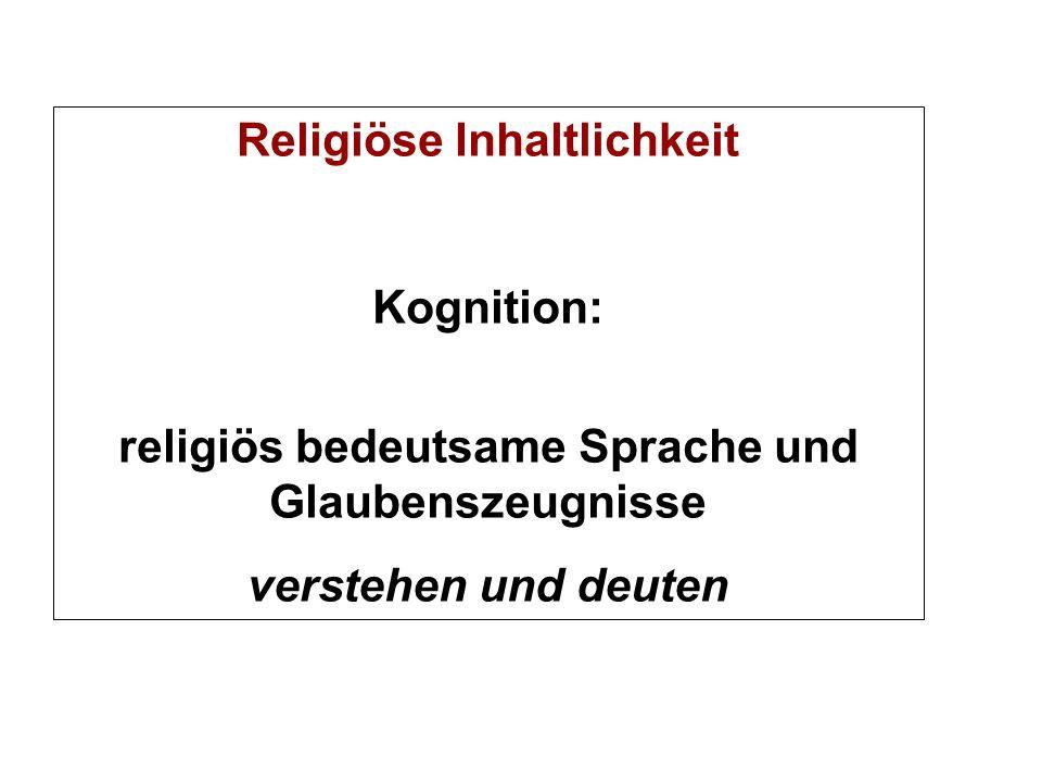 Religiöse Inhaltlichkeit