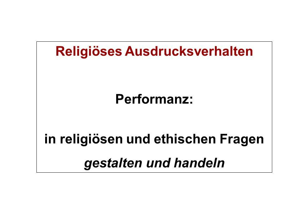 Religiöses Ausdrucksverhalten in religiösen und ethischen Fragen