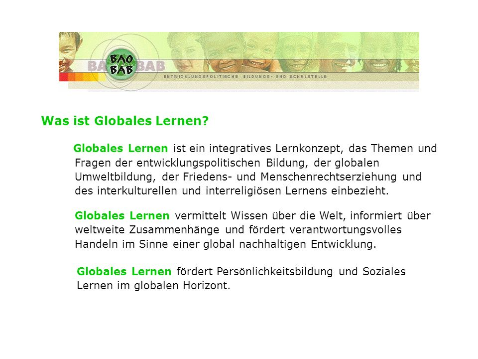 Was ist Globales Lernen