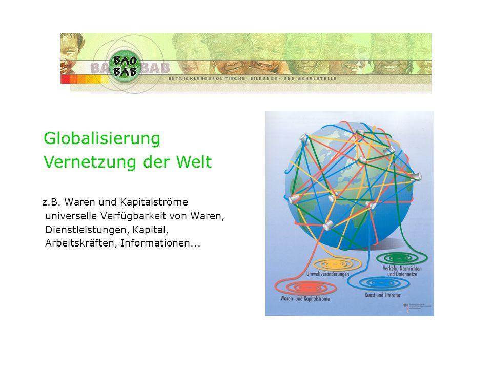 Historie des Verbunds Globalisierung Vernetzung der Welt