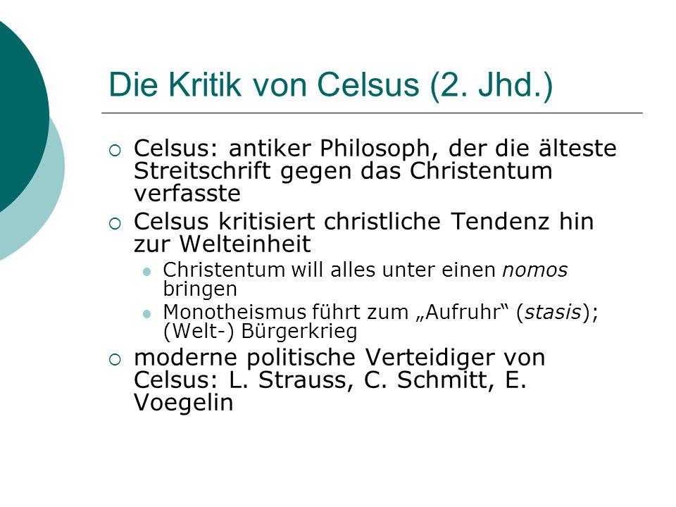 Die Kritik von Celsus (2. Jhd.)
