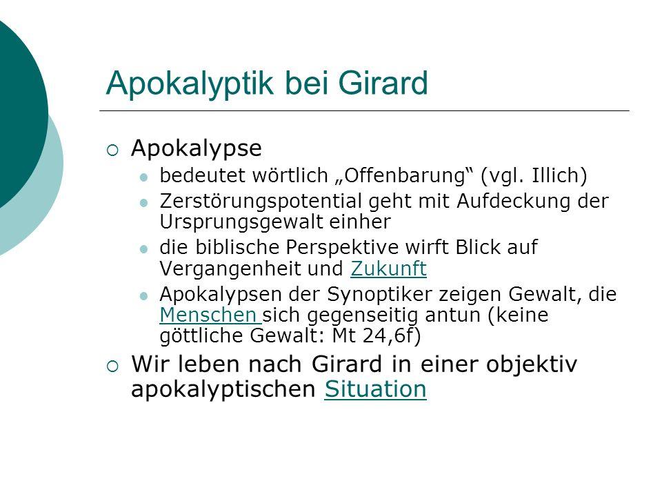 Apokalyptik bei Girard