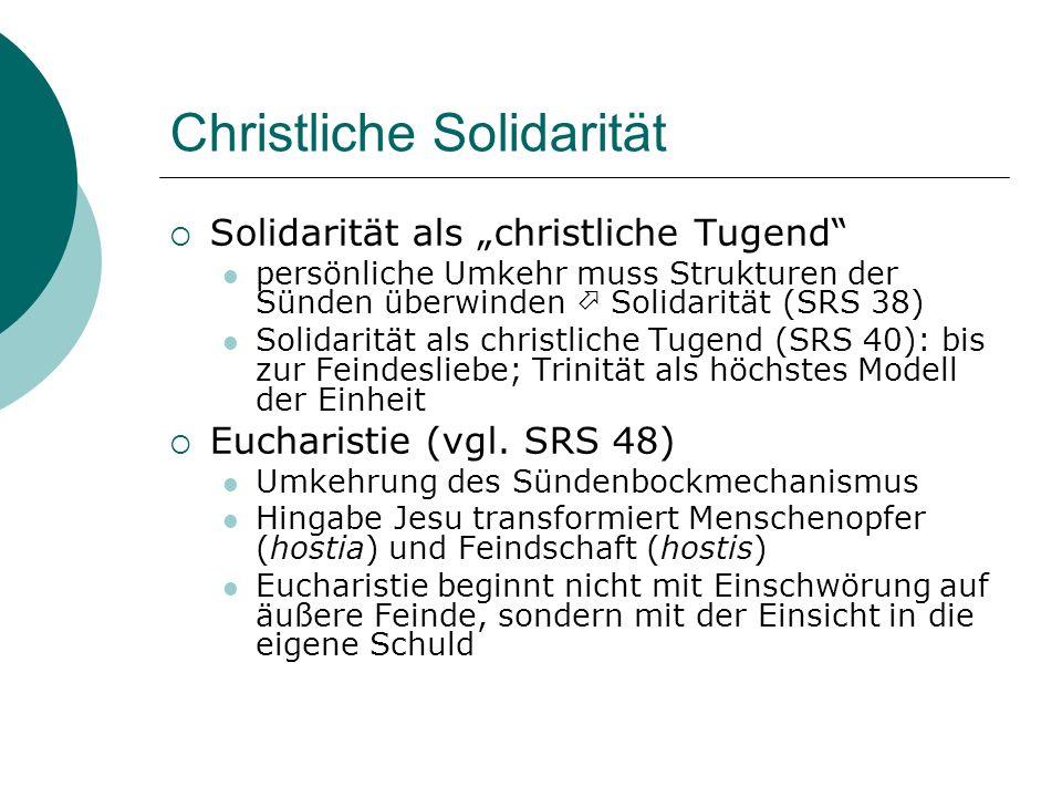 Christliche Solidarität