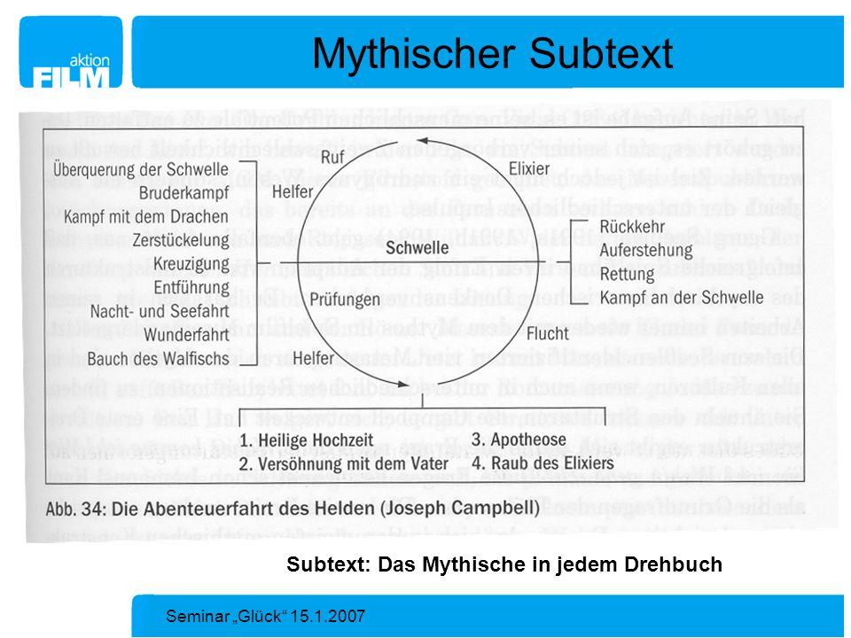 Mythischer Subtext Subtext: Das Mythische in jedem Drehbuch