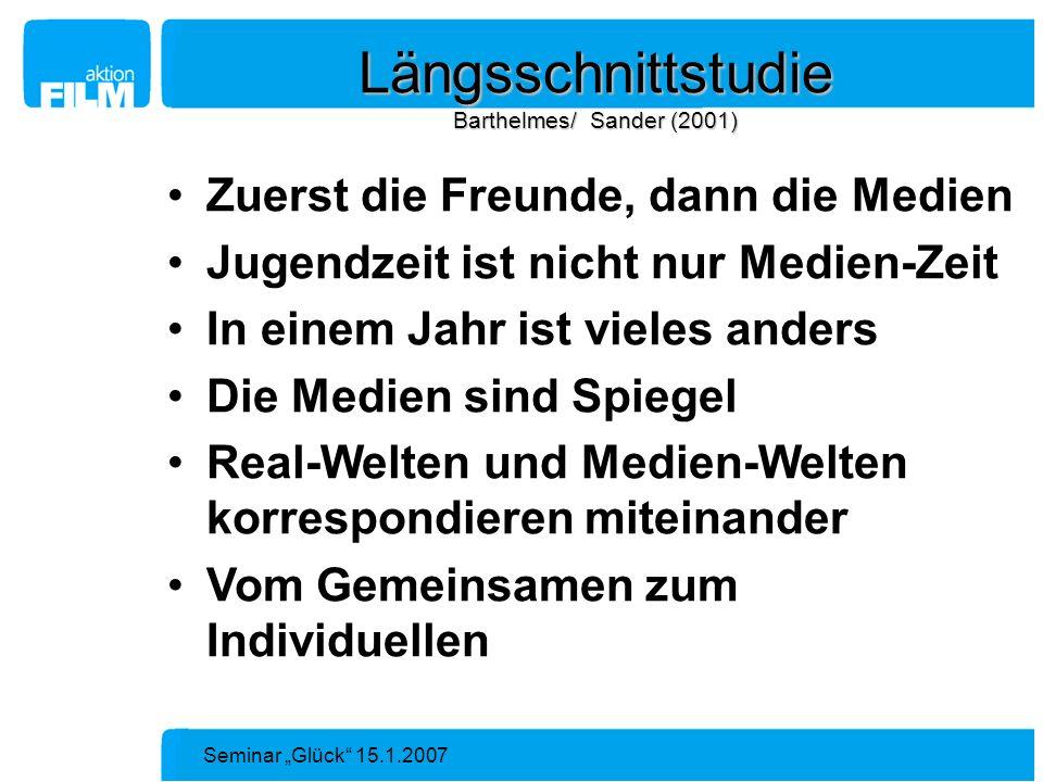 Längsschnittstudie Barthelmes/ Sander (2001)