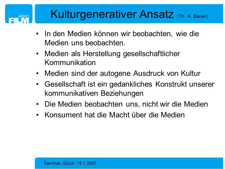 Kulturgenerativer Ansatz (Th. A. Bauer)