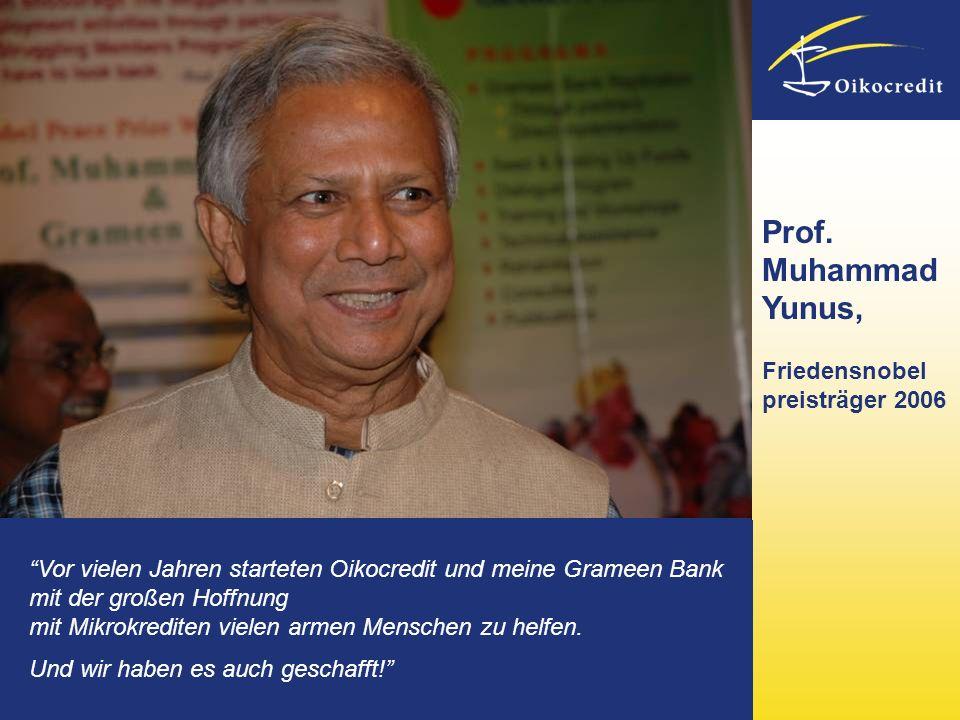 Prof. Muhammad Yunus, Friedensnobel preisträger 2006