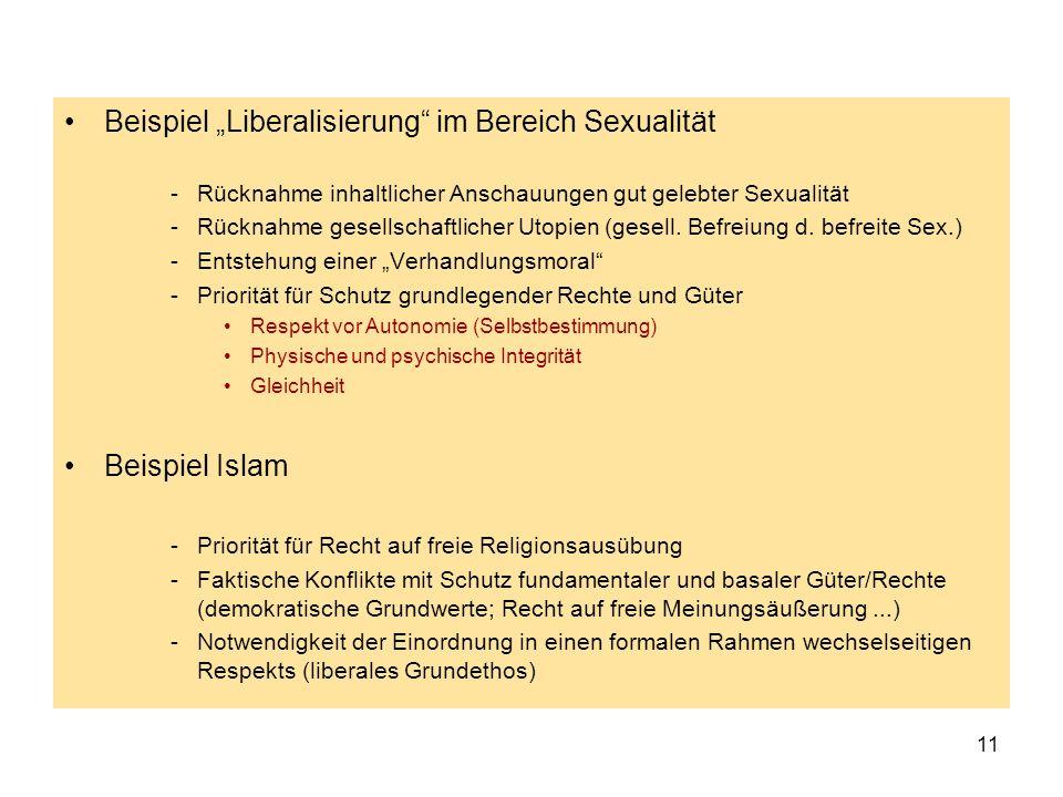 """Beispiel """"Liberalisierung im Bereich Sexualität"""