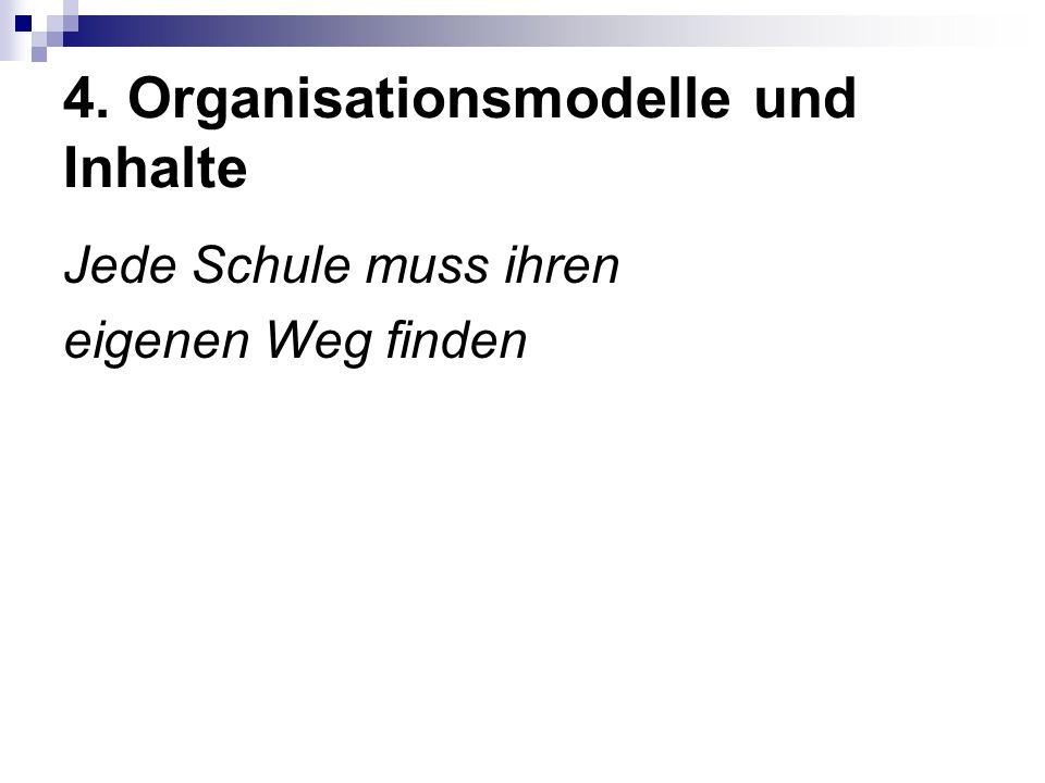 4. Organisationsmodelle und Inhalte