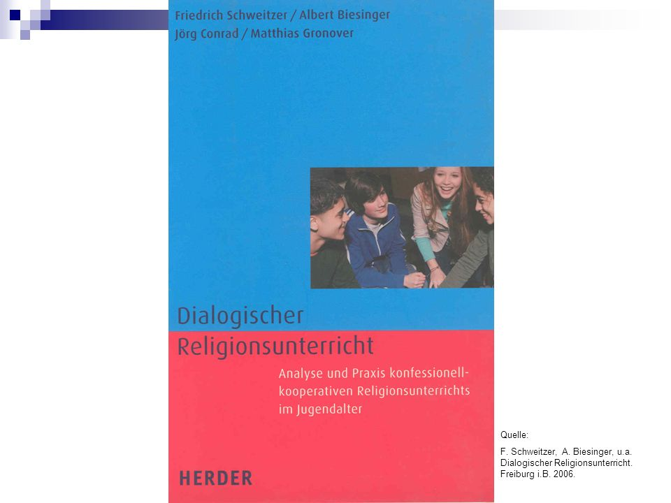 Quelle: F. Schweitzer, A. Biesinger, u.a. Dialogischer Religionsunterricht. Freiburg i.B. 2006.