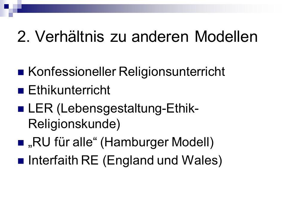 2. Verhältnis zu anderen Modellen