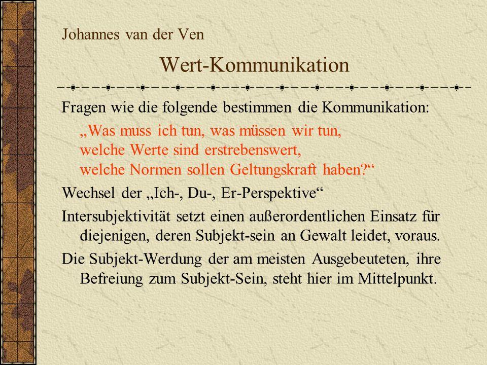 Johannes van der Ven Wert-Kommunikation