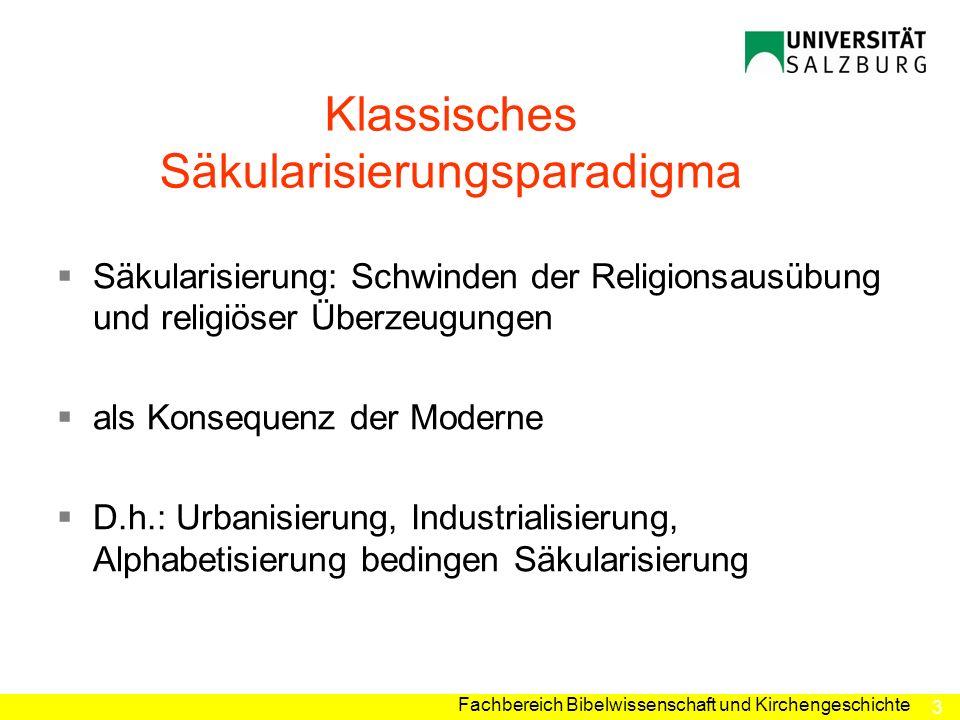 Klassisches Säkularisierungsparadigma