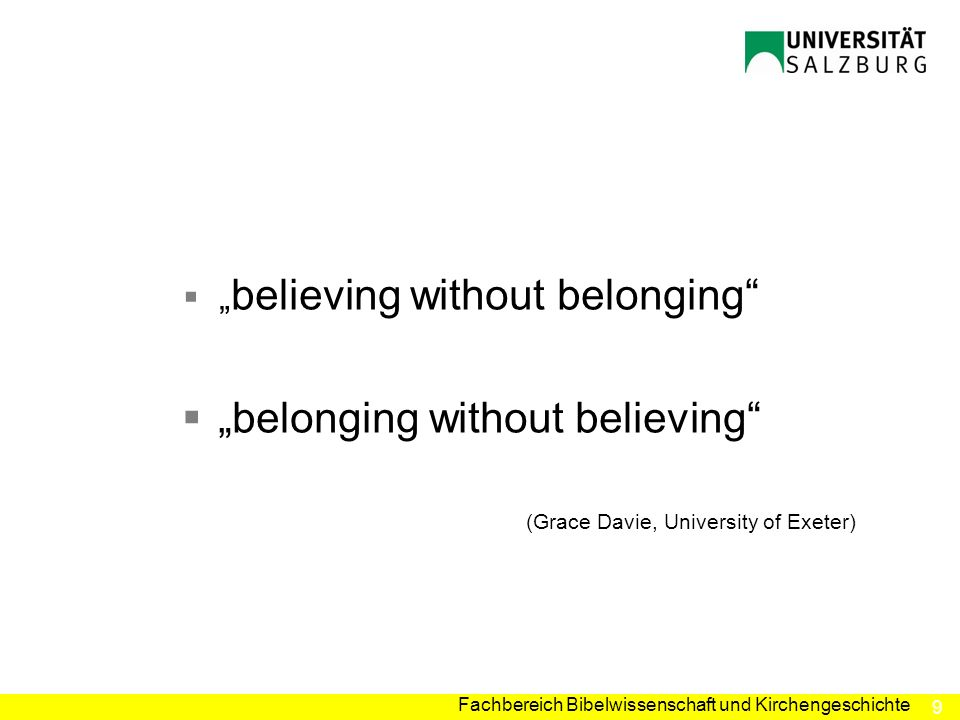 """belonging without believing"