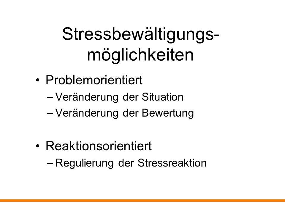 Stressbewältigungs- möglichkeiten