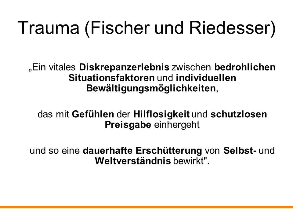 Trauma (Fischer und Riedesser)