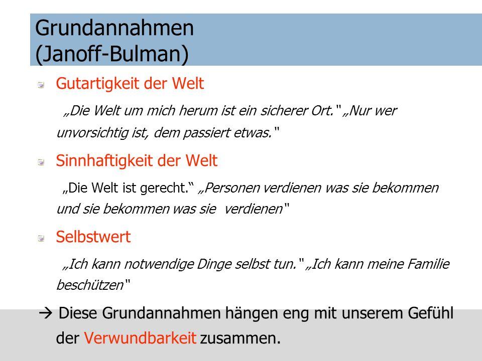 Grundannahmen (Janoff-Bulman)