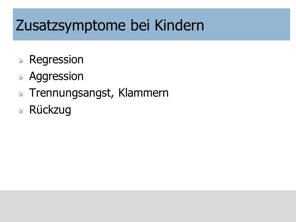 Zusatzsymptome bei Kindern