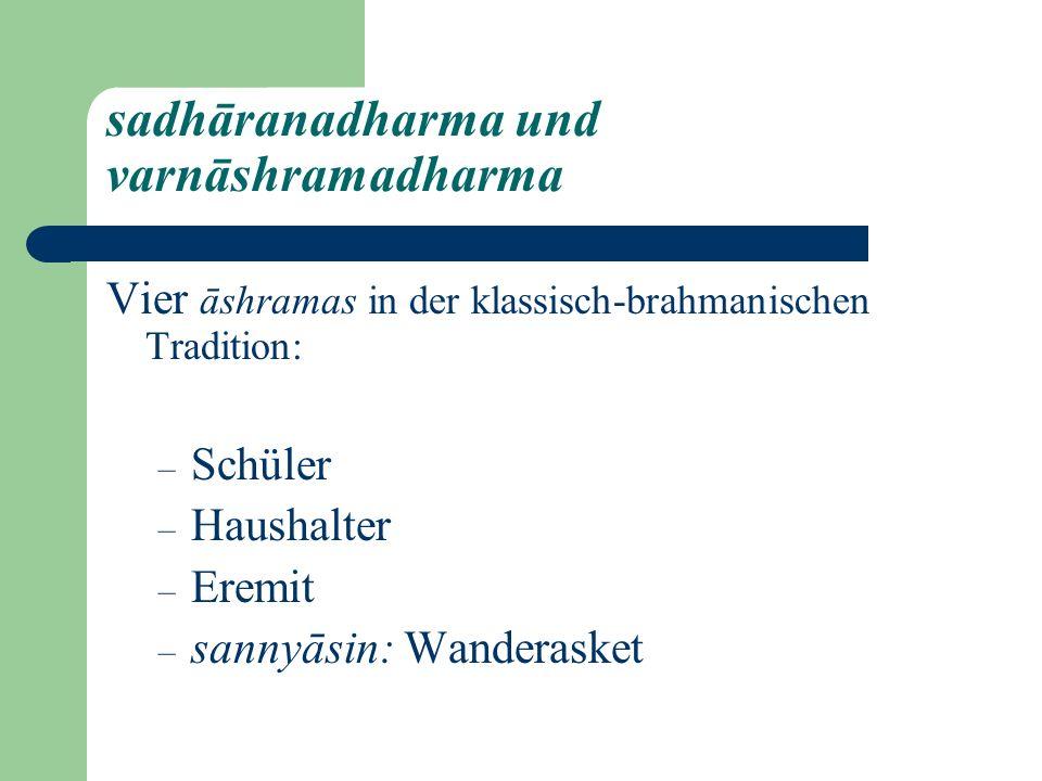 sadhāranadharma und varnāshramadharma