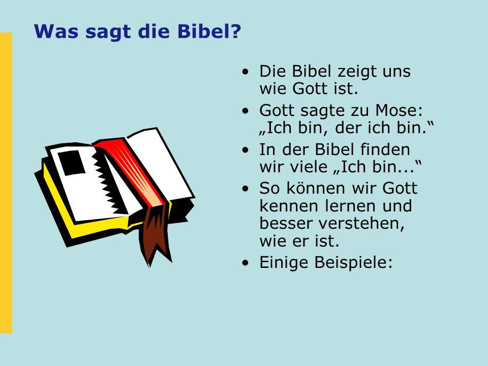 Was sagt die Bibel Die Bibel zeigt uns wie Gott ist.