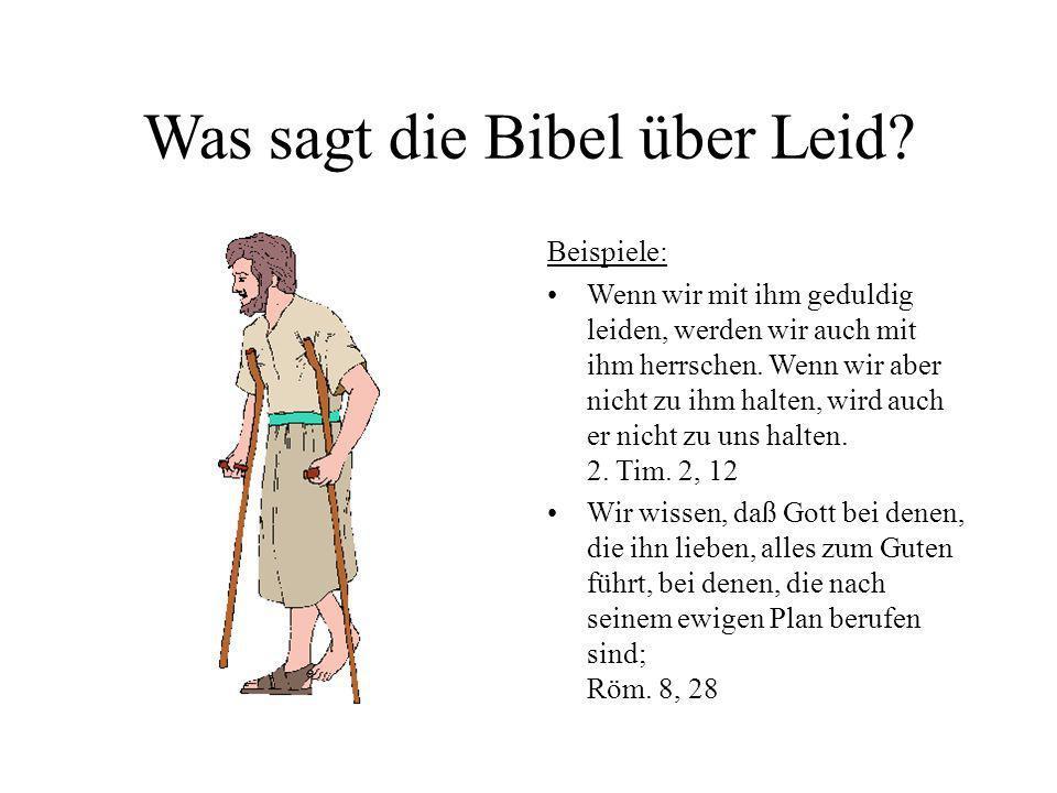Was sagt die Bibel über Leid