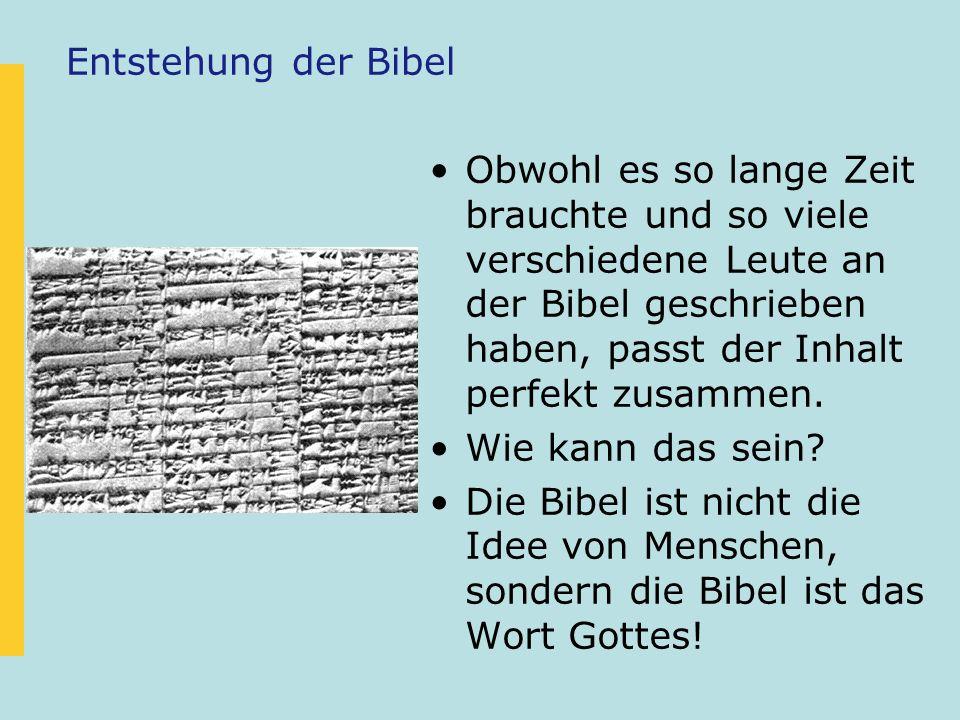 Entstehung der Bibel