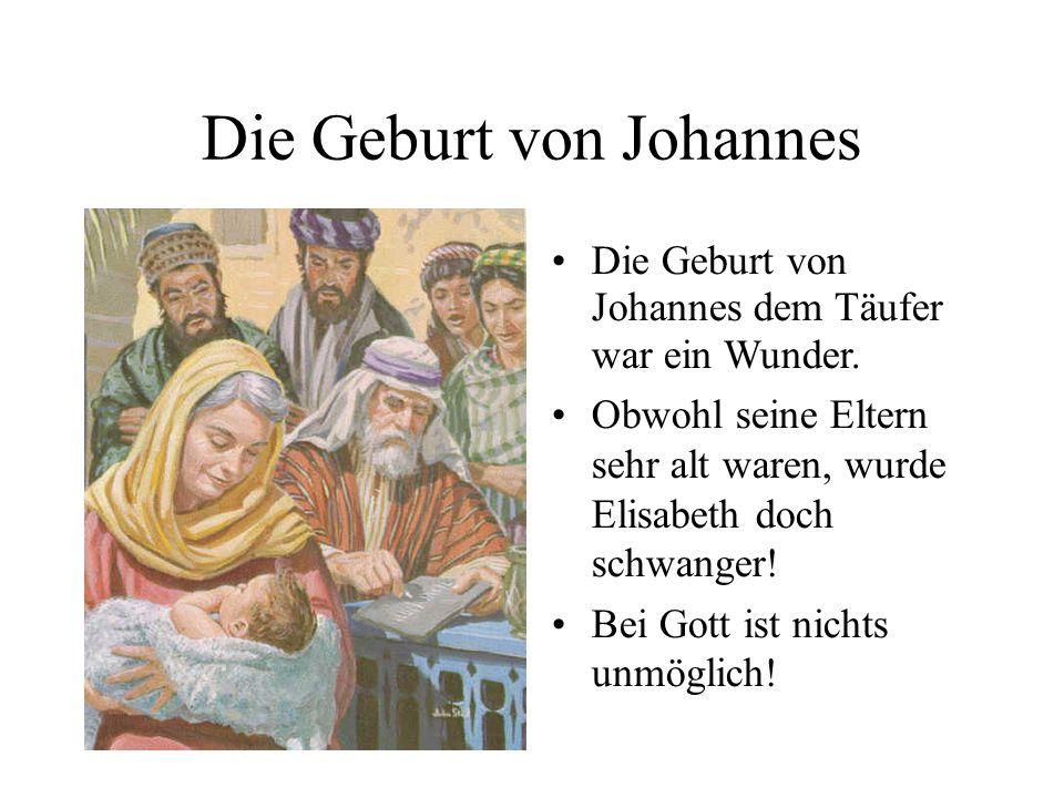 Die Geburt von Johannes