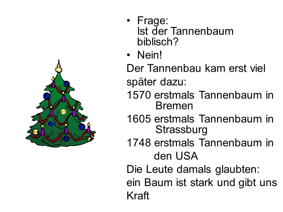 Frage: Ist der Tannenbaum biblisch
