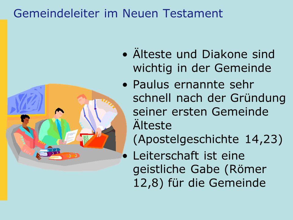 Gemeindeleiter im Neuen Testament