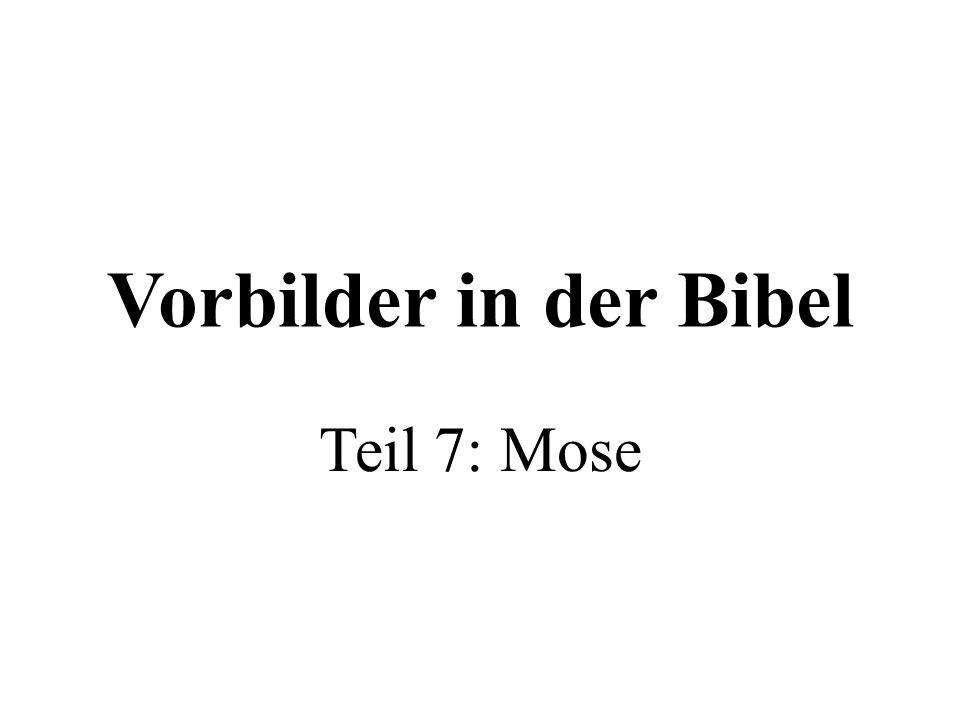 Vorbilder in der Bibel Teil 7: Mose