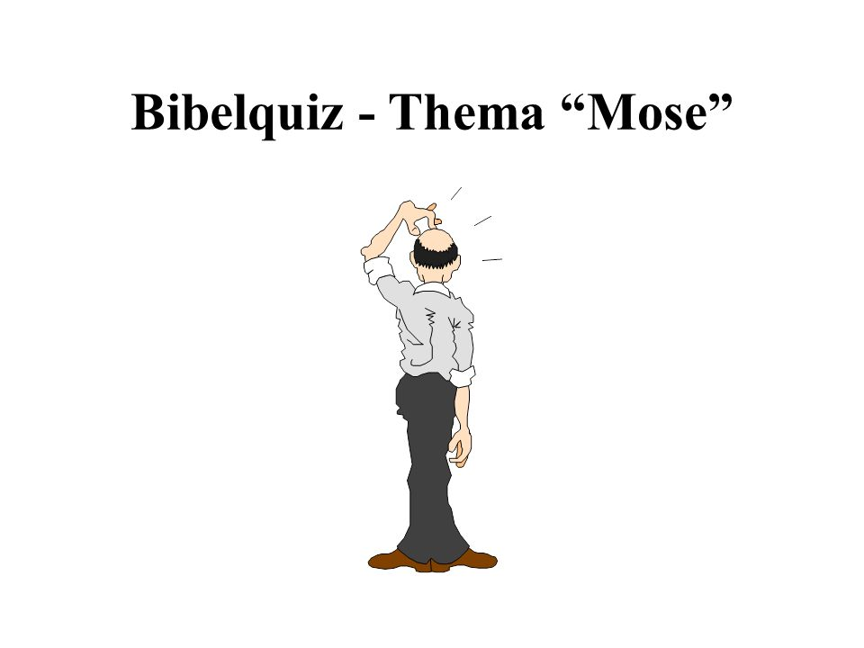 Bibelquiz - Thema Mose
