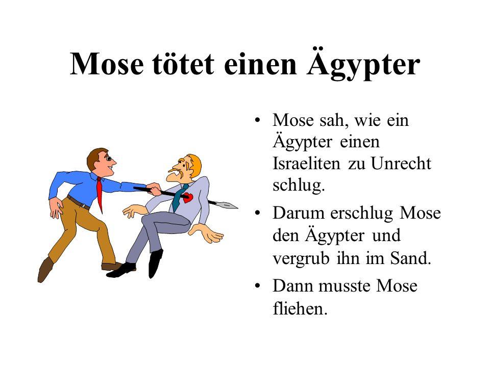Mose tötet einen Ägypter