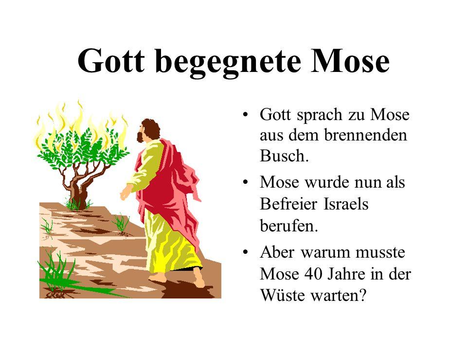 Gott begegnete Mose Gott sprach zu Mose aus dem brennenden Busch.
