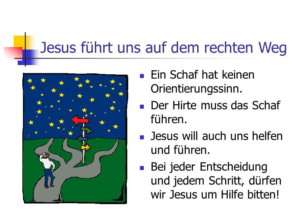 Jesus führt uns auf dem rechten Weg