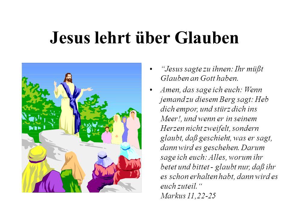 Jesus lehrt über Glauben