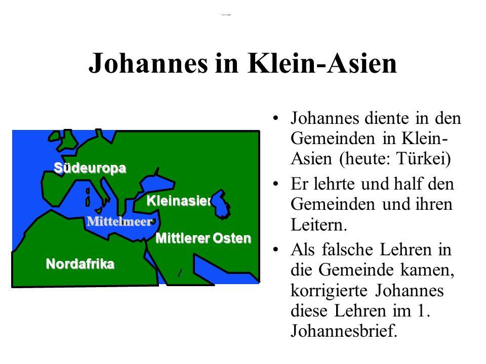 Johannes in Klein-Asien