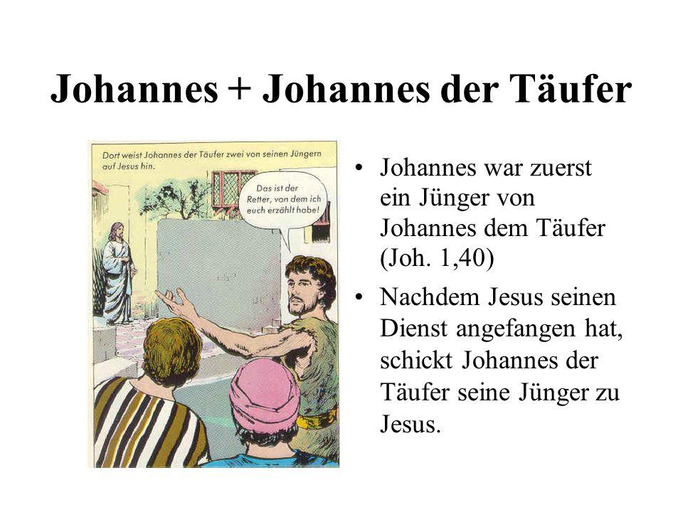 Johannes + Johannes der Täufer