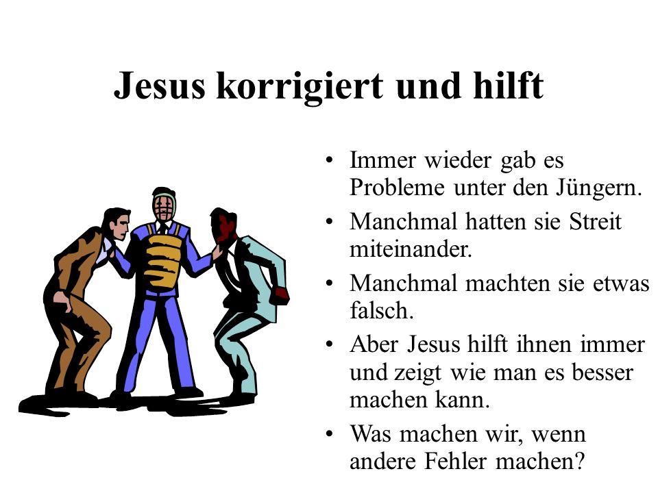 Jesus korrigiert und hilft