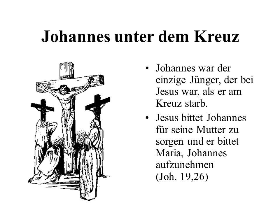 Johannes unter dem Kreuz
