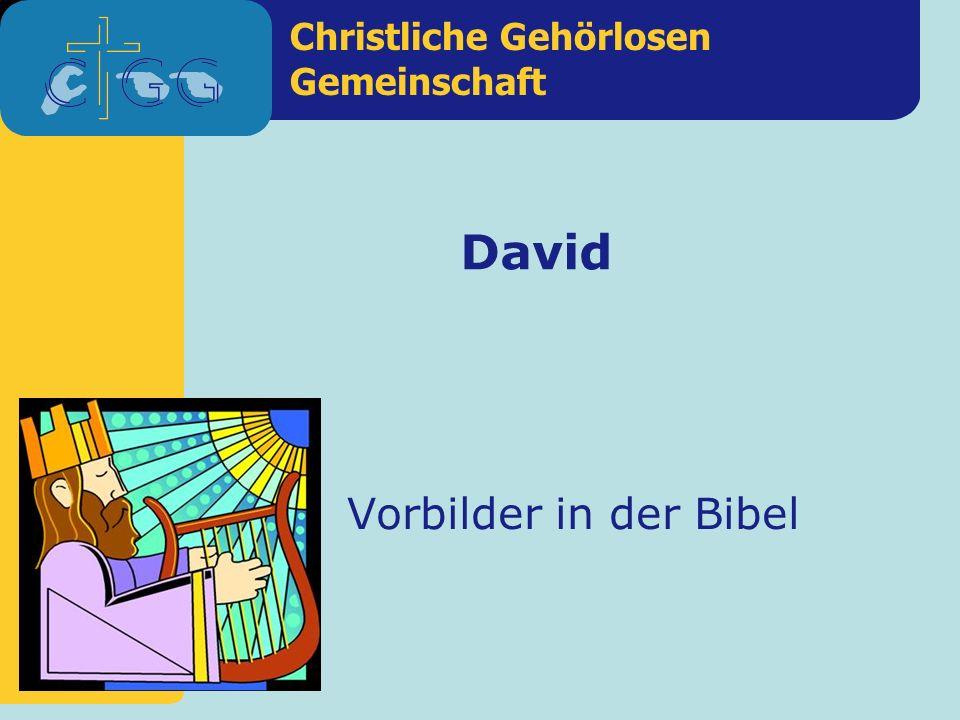 David Vorbilder in der Bibel
