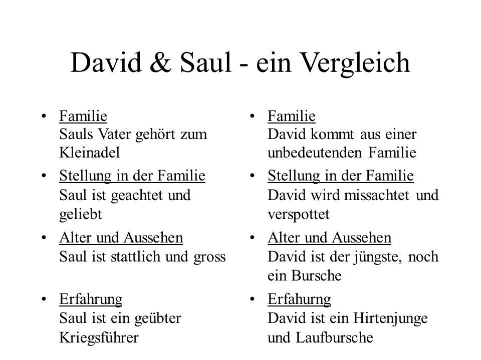 David & Saul - ein Vergleich