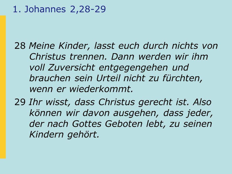 1. Johannes 2,28-29