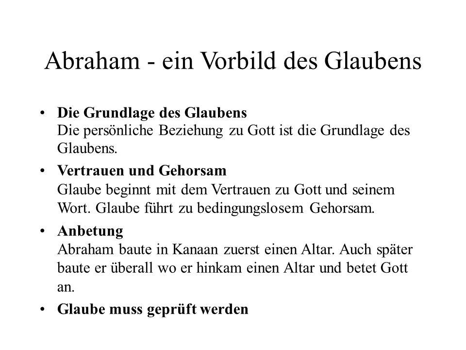 Abraham - ein Vorbild des Glaubens