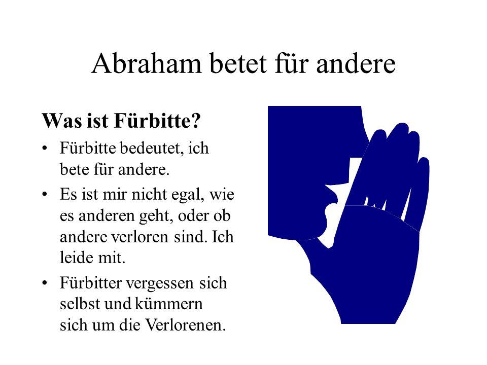 Abraham betet für andere