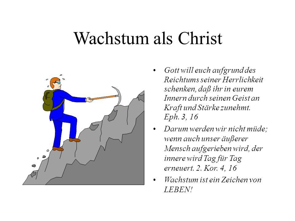 Wachstum als Christ