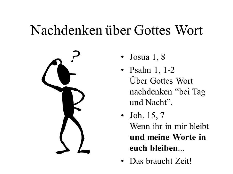 Nachdenken über Gottes Wort